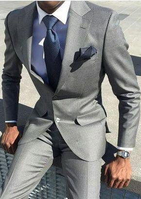 suitsmen | Suits in 2019 | Grey suit men, Mens fashion:__cat
