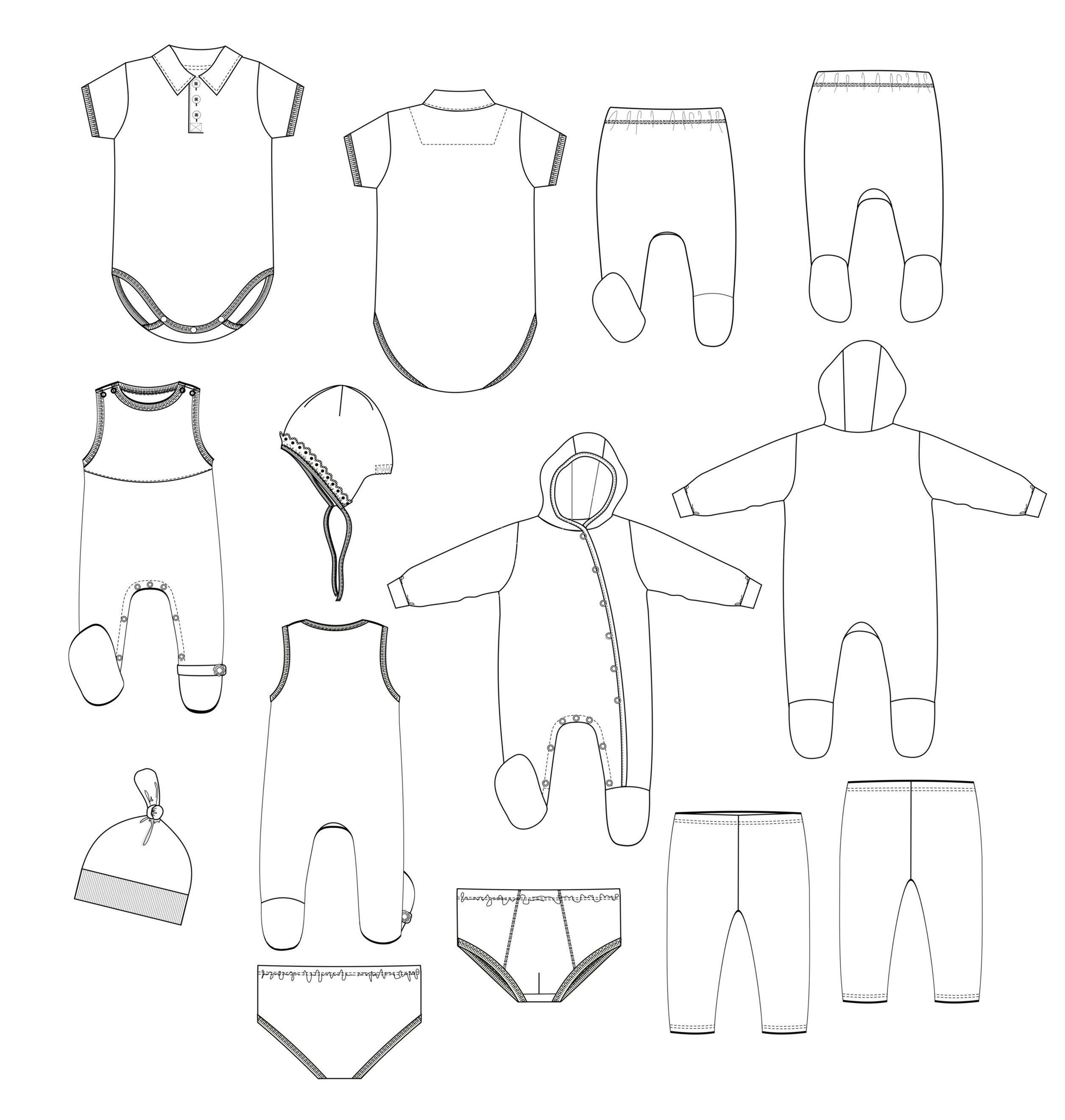 kids-underwear-vector-1129748.jpg (2512×2644)   DIBUJOS TECNICOS ...