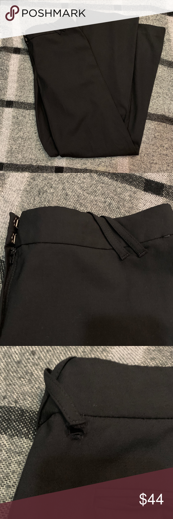 Theory Euc Black Dress Pants Color Black Style Bootcut Dress Pants Brand Theory Retail Price 150 Condit Black Dress Pants Dress Pants Trouser Pants Women [ 1740 x 580 Pixel ]