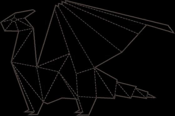 Photo of Geometric Dragon Machine Embroidery Design