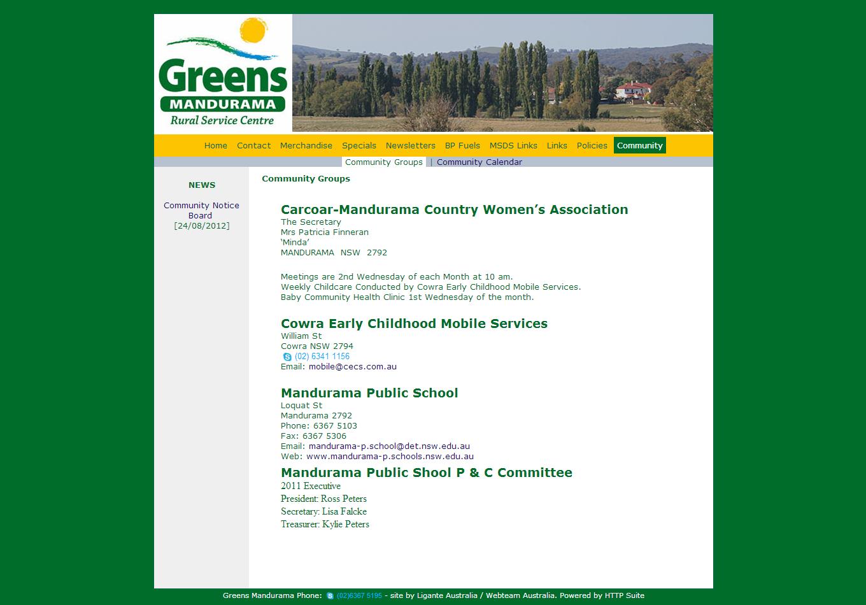 Greens Mandurama