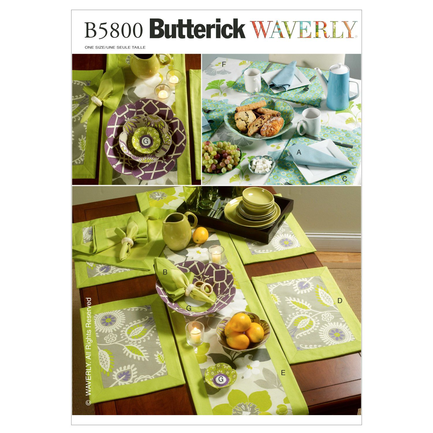 One Size Only BUTTERICK PATTERNS B4759 Outdoor Living