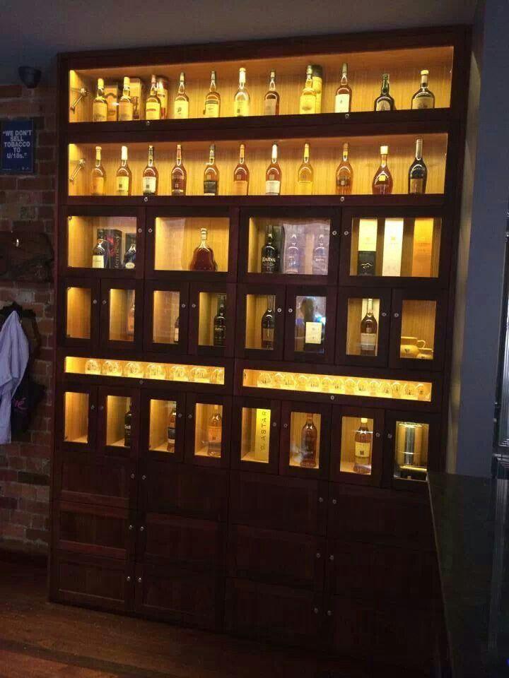 Solid Jarrah Whiskey Cabinet With Tas Oak Internals Auld