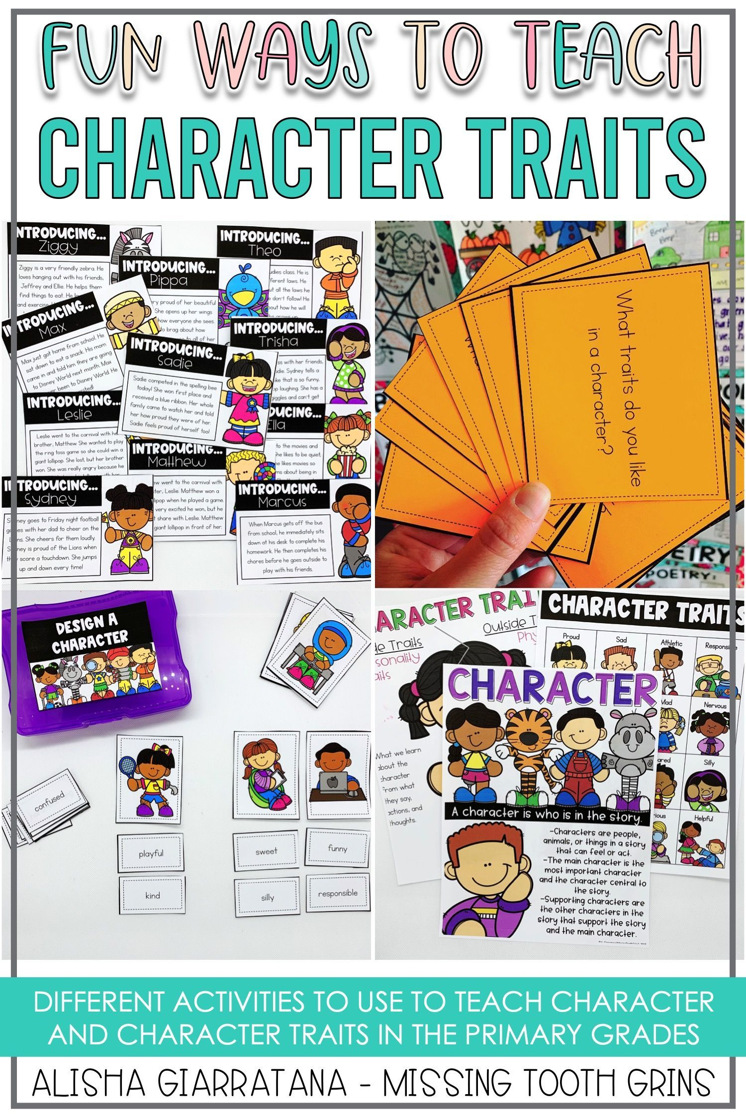 Character Traits Reading Unit