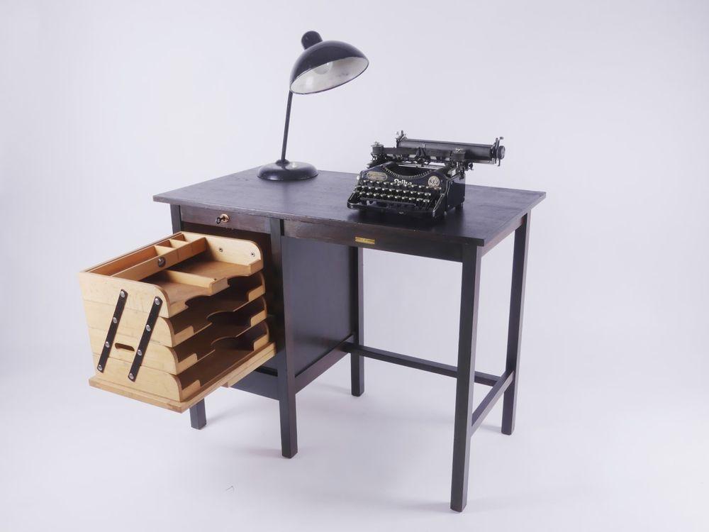 Art Deco Fortschritt Bauhaus Mid Century Rolladen Schreibtisch Desk