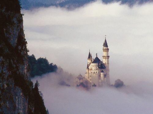 Neuschwanstein Castle, Germany... A castle in the sky just like a fairytale.