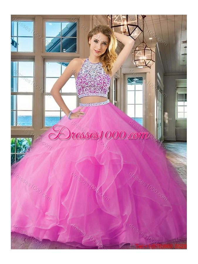 57d38054896 Affordable Organza Laced Ruffled Aquamarine Quinceanera Dress with Long  Sleeves