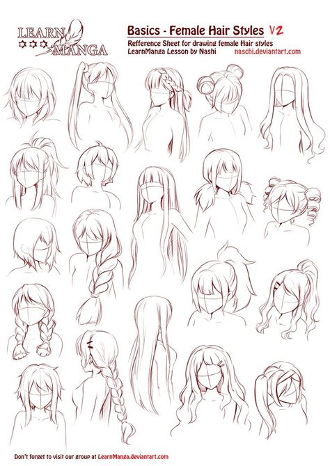 Anime Hair Ideas : anime, ideas, Drawing, Anime, Hairstyles, Girls, Ideas, Drawing,, Tutorial,, Manga