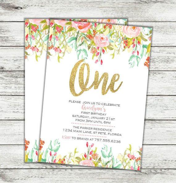 printable floral girls birthday invitation girl birthday and birthdays