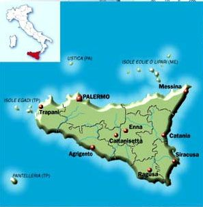 City and road map information Route planner and Map Sicily