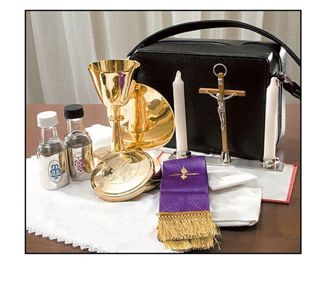 Wedding Altar Cloth: Mass Kit : Altar Cloth, Chalice Paten, Candles, Pyx