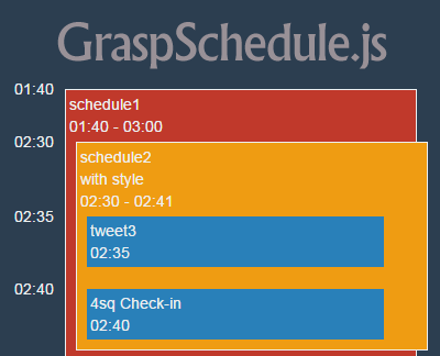 GraspSchedule js – jQuery Calendar Plugin for Schedules & Events