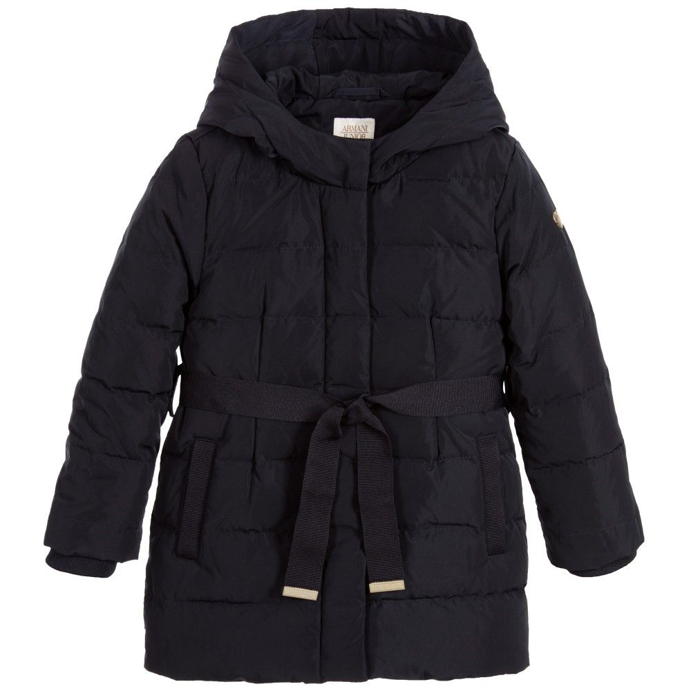 Girls Navy Blue Down Padded Coat | Coats, Navy blue and Navy