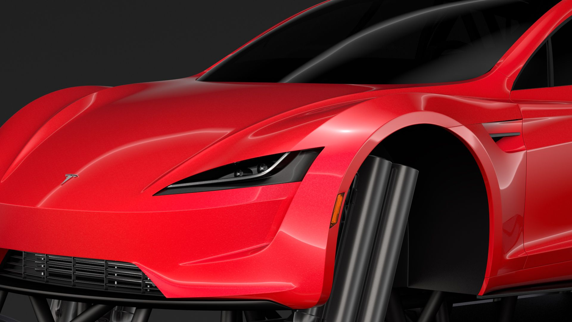 Monster Truck Tesla Roadster Tesla roadster, Monster