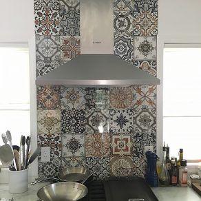 Backsplash: Angora 8x8 Glossy Ceramic Tile | Kitchen wall ...