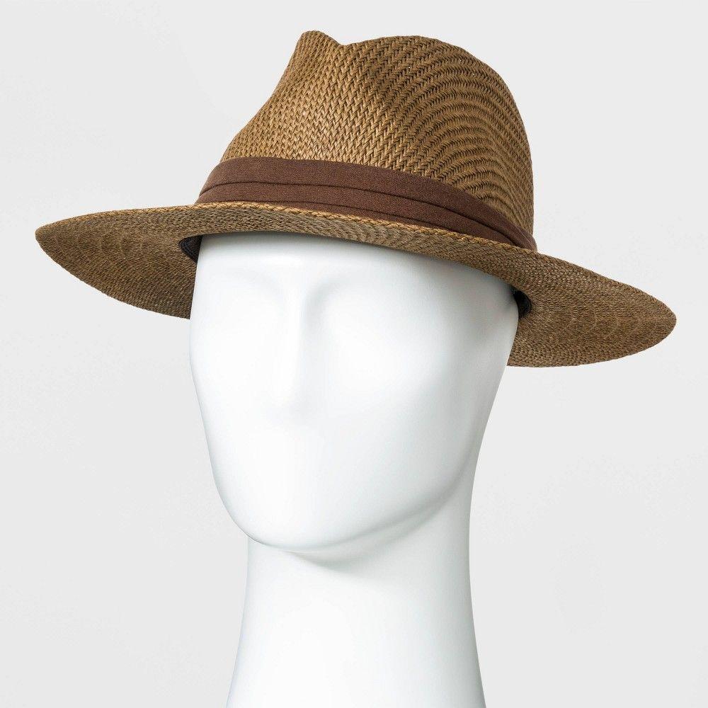 Men S Panama Paper Straw Hat Goodfellow Co Brown M L Men S Size Medium Large Straw Hat Mens Accessories Panama Hat Women