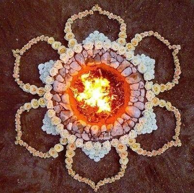 good vibes lotus flower fire