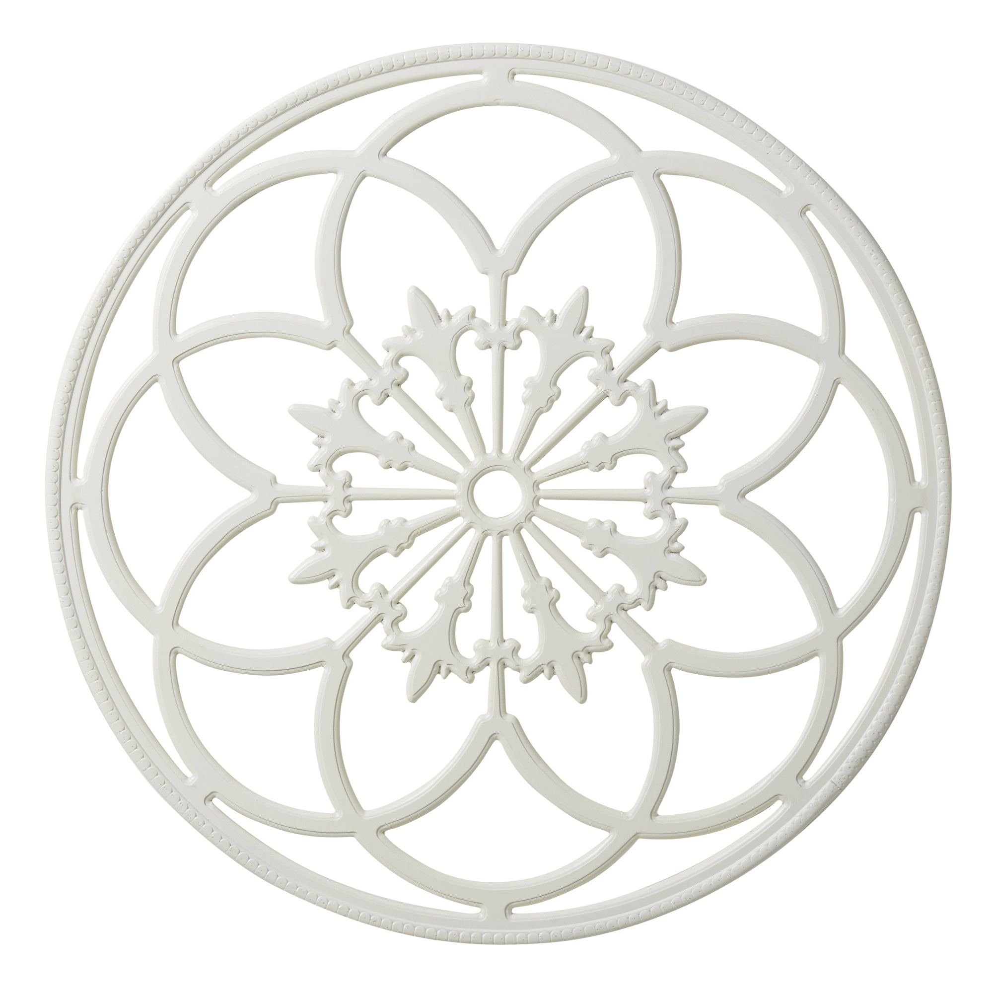 Ondelette ornate wood round wall décor products pinterest products