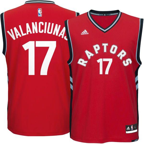 Men's Toronto Raptors Jonas Valanciunas adidas Red Replica Jersey - $55.99