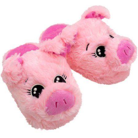e6818652eb84 Girl s Critter Pig Slippers