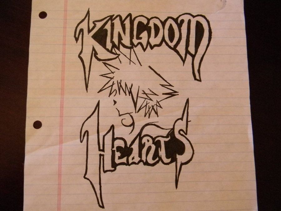 Awesome Drawings Of Hearts Kingdom Hearts Drawing By Flangeez On