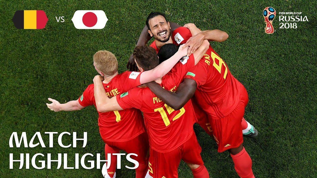 Download Belgium Vs Japan Highlights 3 2 Fifa World Cup Japan Highlights World Cup News Fifa World Cup
