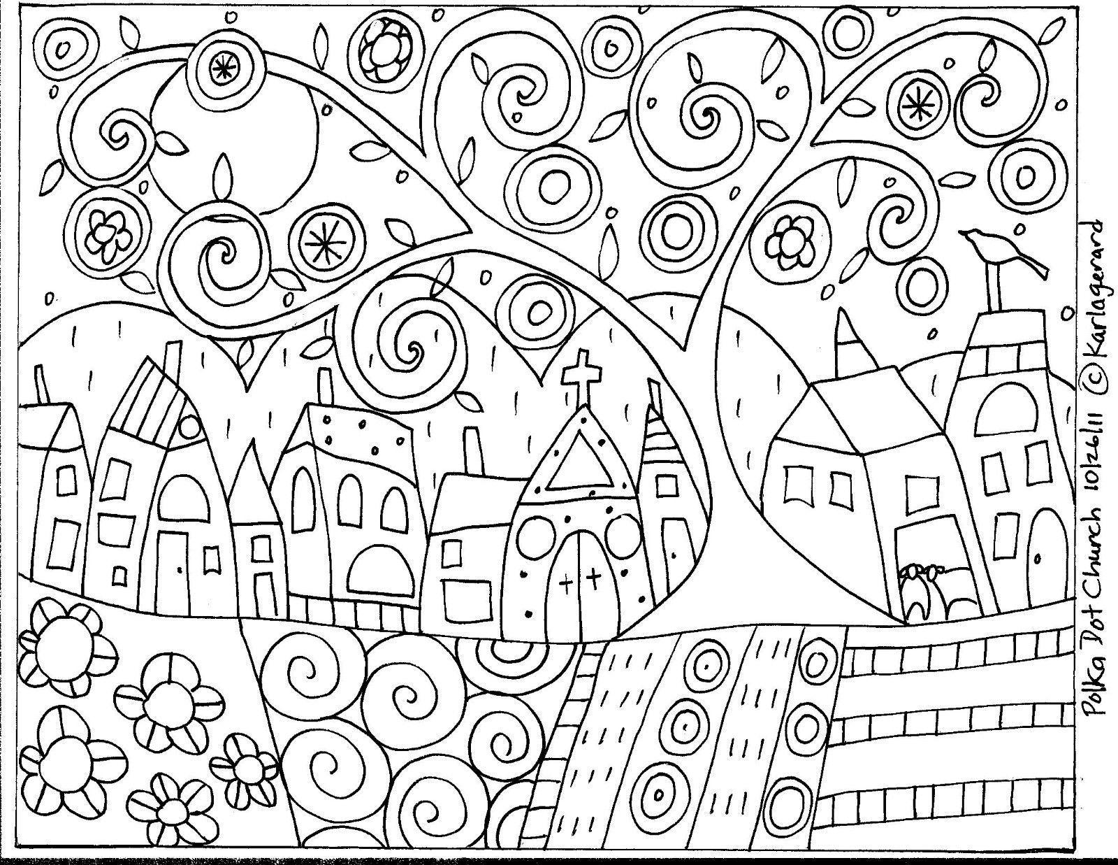 RUG HOOK CRAFT PAPER PATTERN Abstract Winter FOLK ART PRIMITIVE Karla Gerard