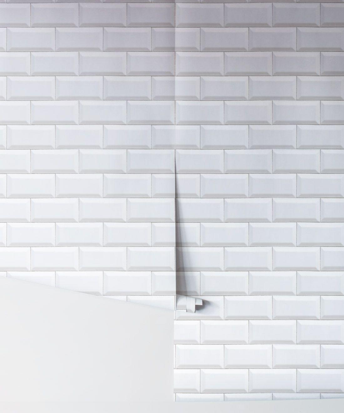 White Subway Tiles Wallpaper • Minimal Wallpaper • Milton ...