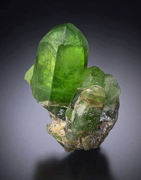 Forsterite (Peridot) with Ludwigite inclusions --- Suppat, Kohistan, Pakistan