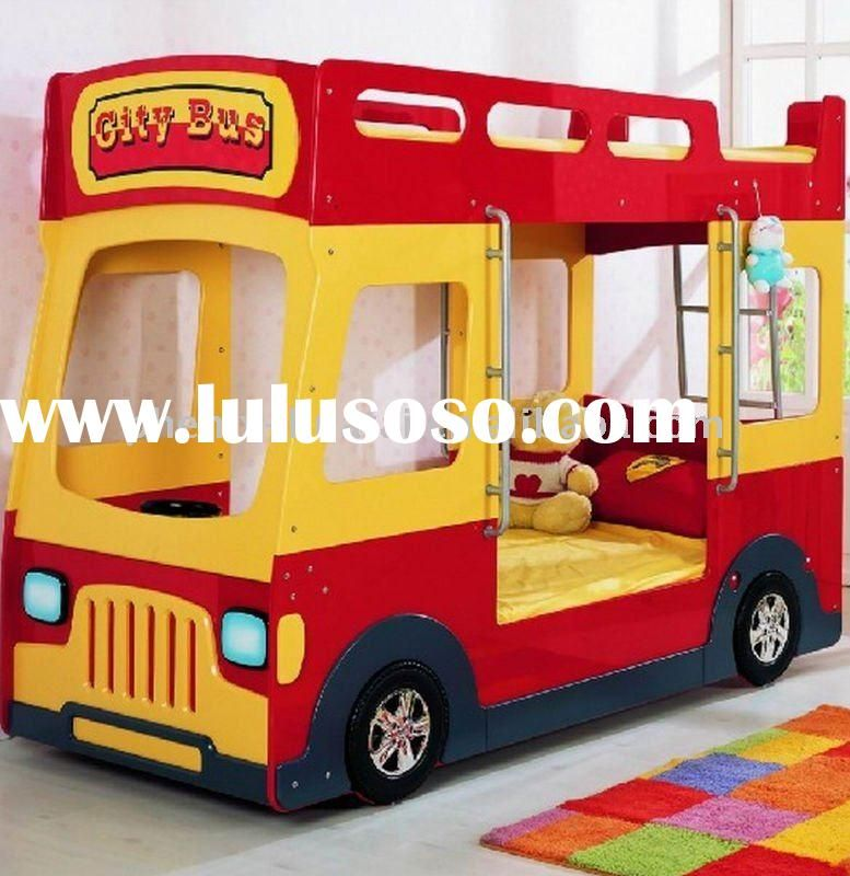 Popular Kids Bus Bunk Bed For Sale