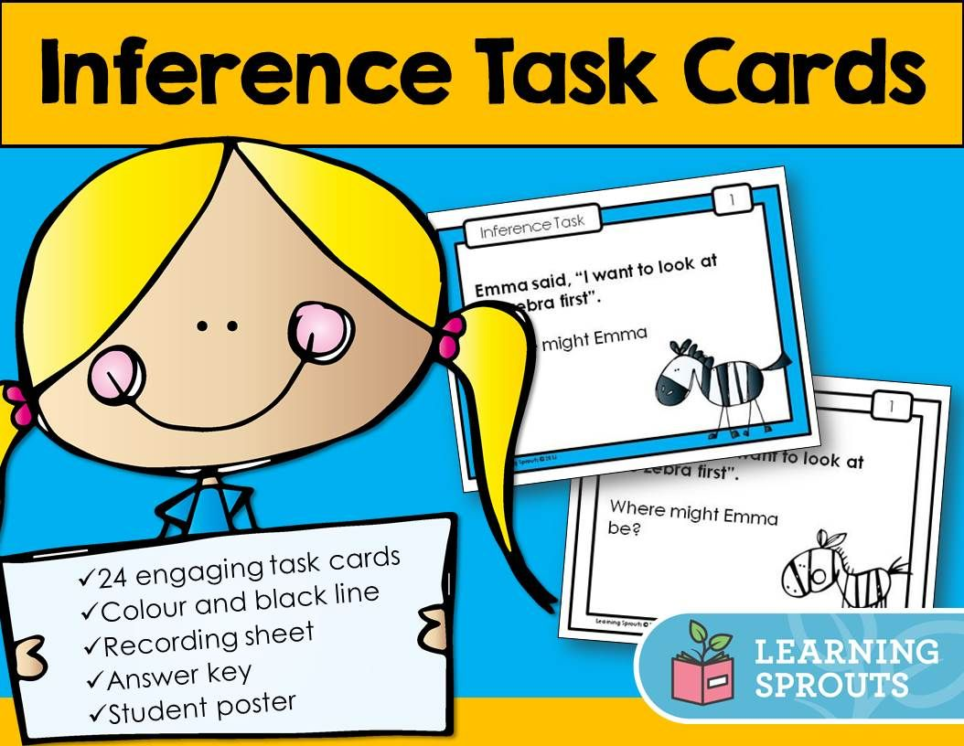 This Pack Of Inference Task Cards Is Perfect For Beginners