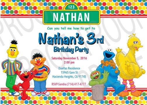 A personal favorite from my Etsy shop https://www.etsy.com/listing/461371496/sesame-street-digital-download #invites #digital #download #instant #sesame #street #cookiemonster #birthday #kids #children #invitation #invitations #bigbird