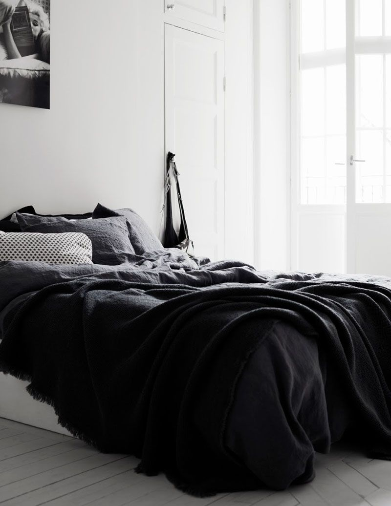 4 Essentials You Need To Create A Scandinavian Bedroom White Apartment Bedroom Black Black White Bedrooms