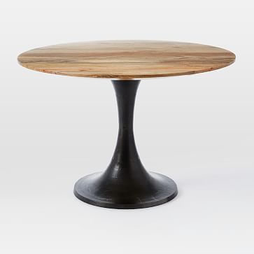Cast Pedestal Dining Table Pack Wood Metal Raw Mango Burnished Bronze Pedestal Dining Table Round Pedestal Dining Table Dining Table