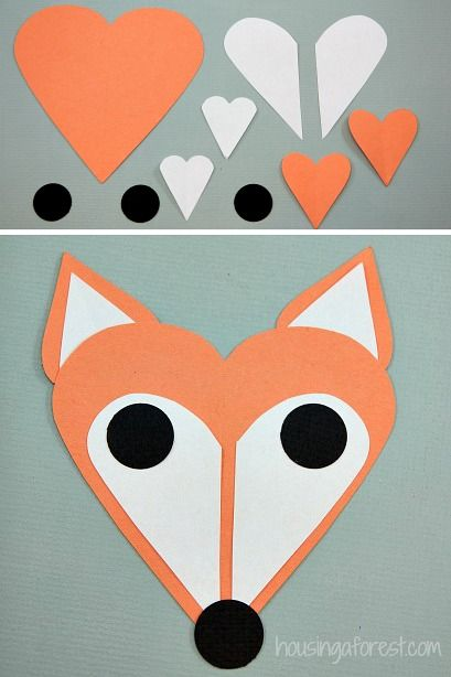 Heart fox simple valentines day craft for kids for Easy heart crafts