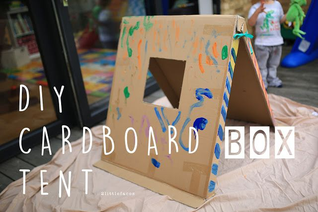 Diy Cardboard Box Tent Cardboard Boxes Kids Diy Tent Diy Cardboard