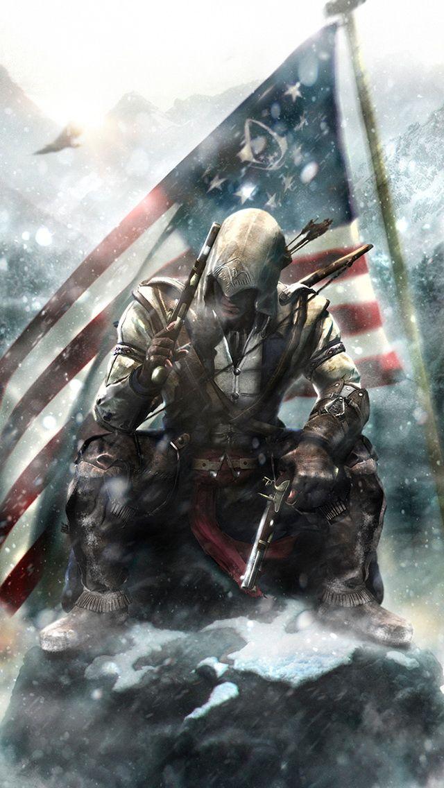 Assassins Creed Connor Jpg 640 1 136 Pixeles Arte De Videojuegos