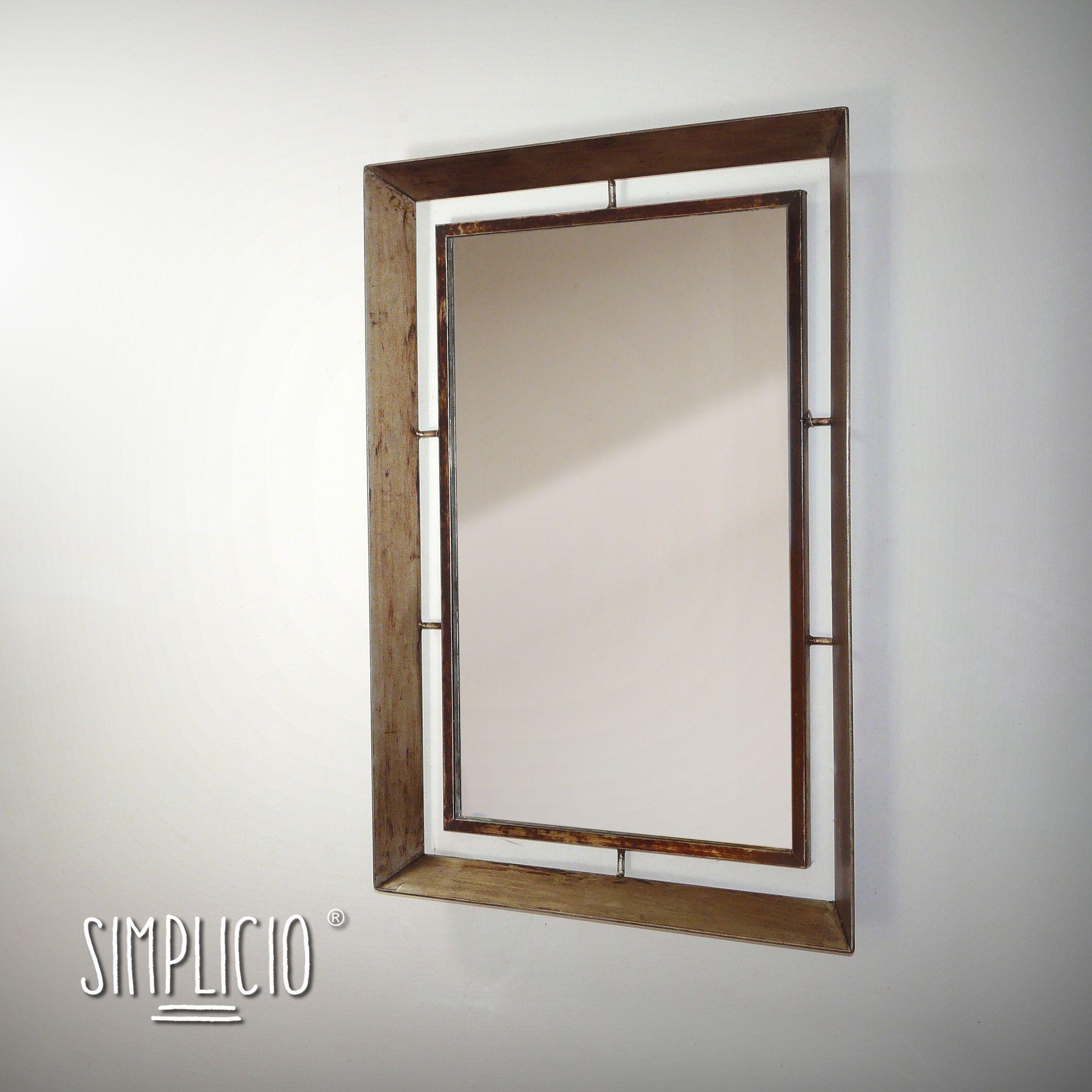 Simplicio - Espejo marco doble / Mirror dual frame (70x50cm ...