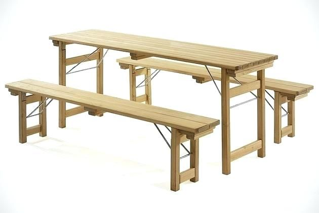 Folding Wooden Benches Beer Garden Bench Seat