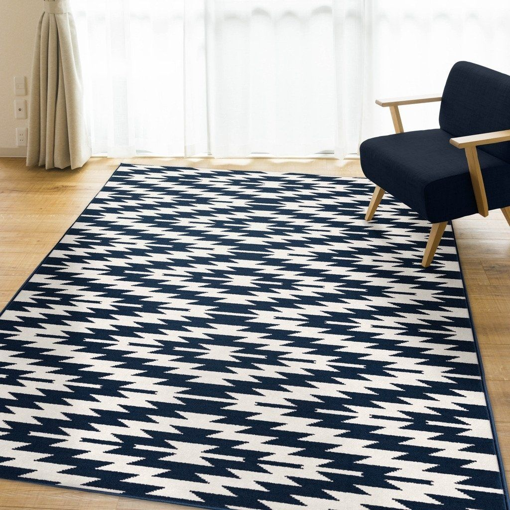 Ladona Navy Area Rug By Orian Rugs 5 X 7 Navy 5 X 7 Blue Rugs Home Decor Blue Area Rugs