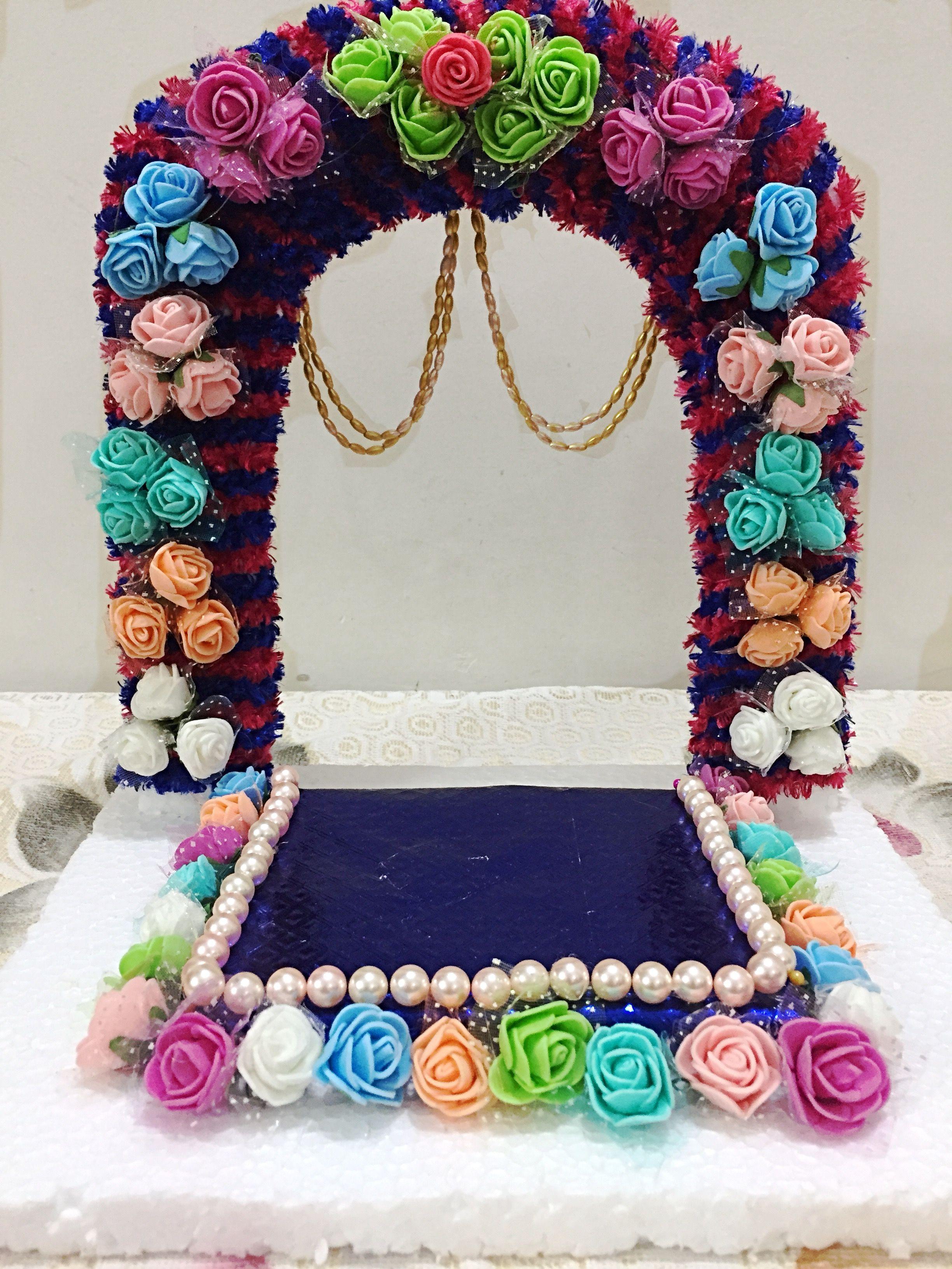 Simple Easy And Elegant Ganpati Ganapati Makhar Decorations