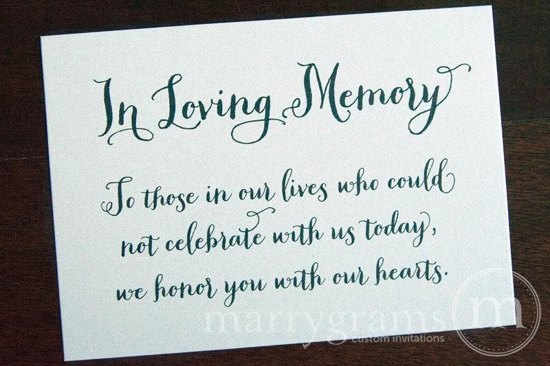 In Loving Memory Wedding Memorial Sign Thick Style images