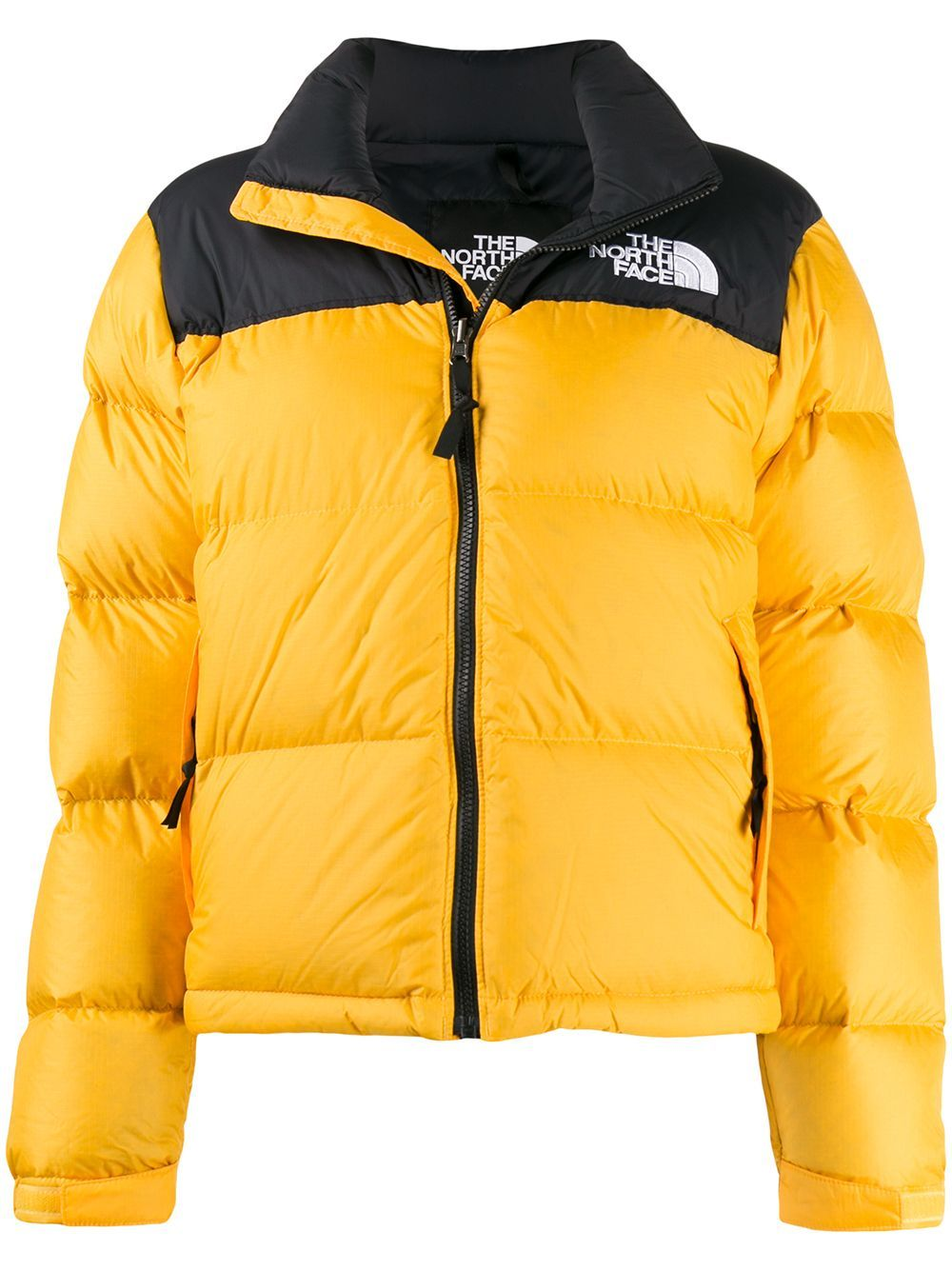 The North Face Two Tone Puffer Jacket Farfetch Yellow Puffer Jacket The North Face North Face Puffer Jacket [ 1334 x 1000 Pixel ]