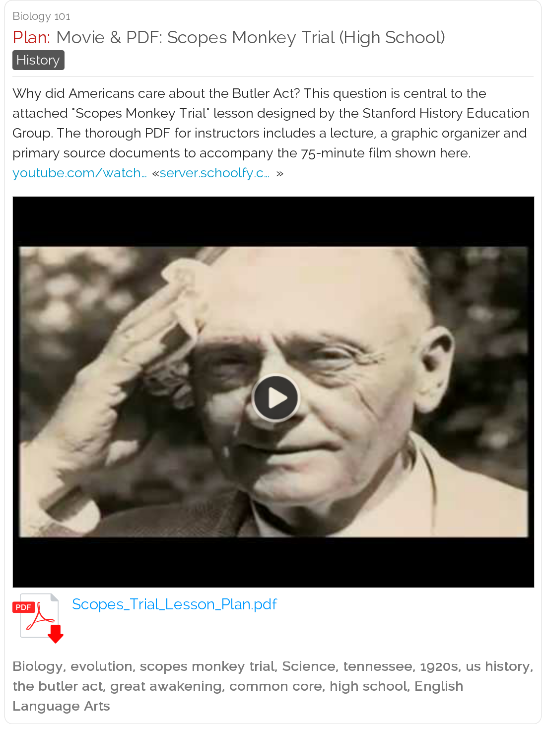 Free Online Movie PDF History Lesson Plan - Scopes Monkey