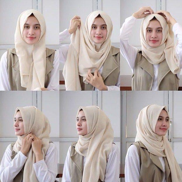 Tutorial Hijab Untuk Anak Sekolahan Di 2020 Tutorial Hijab Mudah Kerudung Hijab