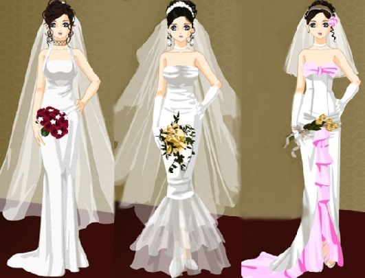 wedding dress up games and makeover games