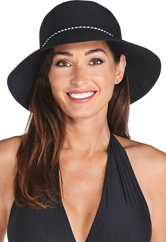 Coolibar upf 50 womens ribbon bucket hat sun protective
