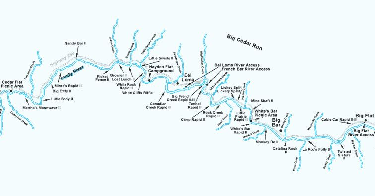 Trinity River RaftingBig Cedar Run Map | River Maps in 2019 ... on klamath mountains map, lake of the woods map, klamath marsh map, trinity lake map, klamath national forest map, highland map, morgan hill map, klamath basin map, lower klamath national wildlife refuge map, southern oregon northern california map, klamath lake map, prairie creek redwoods state park map, trinity county map, roosevelt national forest trail map, oregon rivers map, klamath county map, six rivers national forest map, humboldt county map, redwood national and state parks map,