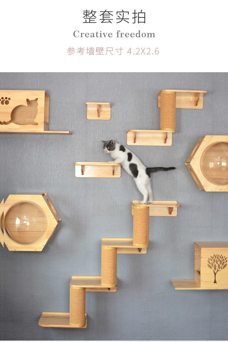 Cat Wall Mounted Wood Platform Kitten Jumping Platform Cat Climbing Scratching Frame Diy Pet Toy Cat Hanging House Wall Cat Nest Furniture Scratchers Ali In 2020 Cat Climbing Frame Diy
