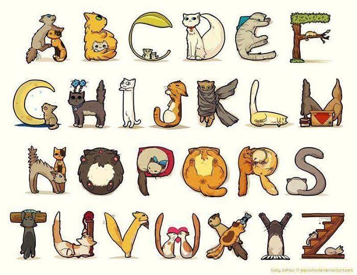 abc chat cross stitch alphabet pinterest lettres chats et cadeau. Black Bedroom Furniture Sets. Home Design Ideas
